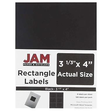 JAM Paper® Mailing Address Labels, 3 1/3 x 4, Black, 120/pack (302228591)