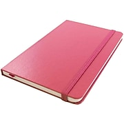 JAM Paper® Hardcover Notebook with Elastic, Large Journal, 5 7/8 x 8 1/2, Pink, 70 Lined Sheets, Sold Individually (340528856)