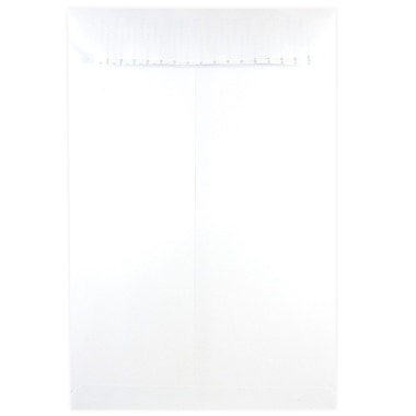 JAM Paper® 12 x 15.5 Open End Envelopes with Self Adhesive Closure, White, 500/Pack (356828784)