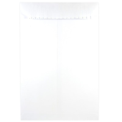 JAM Paper® 12 x 15.5 Open End Envelopes with Self Adhesive Closure, White, 500/box (356828784)