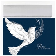 JAM Paper® Christmas Holiday Cards Set, Peace on Earth Dove, 18/pack (526861400)