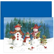 JAM Paper® Christmas Holiday Cards Set, Snow Family, 18/pack (526864100)