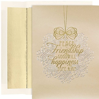 JAM Paper® Christmas Holiday Cards Set, Season's Greetings, 16/Pack (526866100)