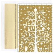 JAM Paper® Christmas Holiday Cards Set, Tree of Holiday Delight, 18/pack (526872500)