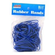 JAM Paper® Rubber Bands, #33 Size, Blue Rubberbands, 100/pack (333RBBU)