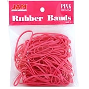 JAM Paper Colored Rubber Bands, Size 33, 100/Pack (333RBPI)