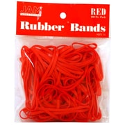 JAM Paper® Rubber Bands, #33 Size, Red Rubberbands, 100/pack (333RBRE)