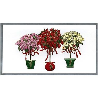 JAM Paper® Christmas Holiday Cards Box Set, Three Poinsettias, 2 packs of 25 (52614492Rg)