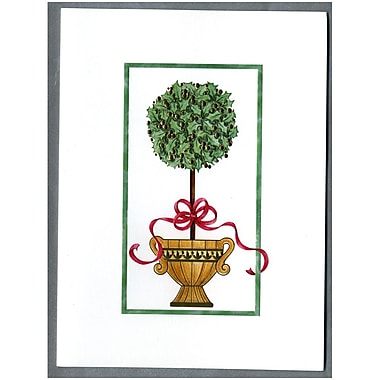 JAM Paper® Christmas Holiday Cards Box Set, Tree in a Pot, 2 packs of 25 (52614492Xg)