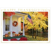 JAM Paper Blank Thanksgiving Card Set, Patriotic Porch, 25/Pack (526B0760WB)