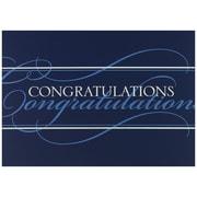JAM Paper® Blank Congratulations Cards Set, Blue Congratulations, 25/pack (526BG421WB)