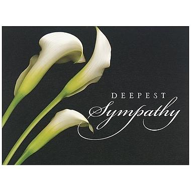 JAM Paper® Blank Sympathy Card Set, Deepest Sympathy Calla Lilies, 25/Pack (526BG450WB)