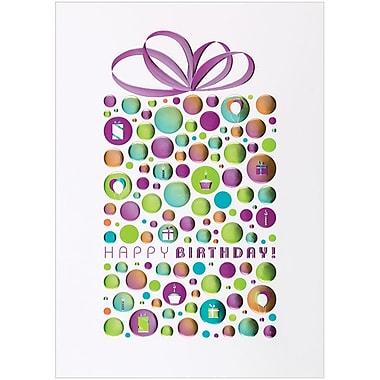 JAM Paper® Blank Birthday Cards Set, Happy Birthday Dot, 25/Pack (526BG530WB)