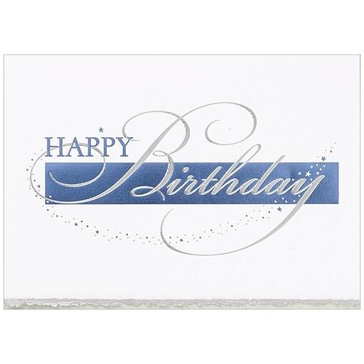 Jam Paper Blank Birthday Cards Set Happy Birthday Deckle Edge 25
