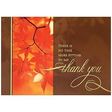 JAM Paper® Blank Thanksgiving Card Set, Thanksgiving Photo Leaves, 25/Pack (526C1152B)