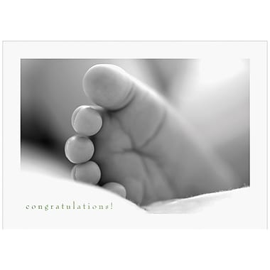 JAM Paper® Blank Congratulations Cards Set, Baby's Foot, 25/Pack (526M0158WB)