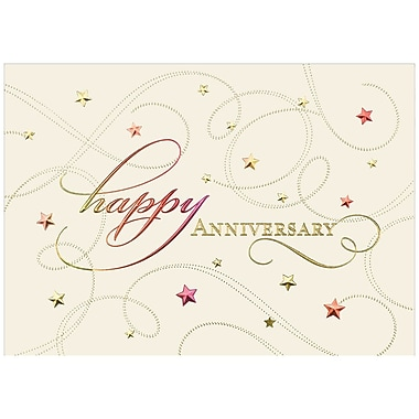 JAM Paper® Blank Anniversary Cards Set, Star Studded, 25/Pack (526M0161WB)