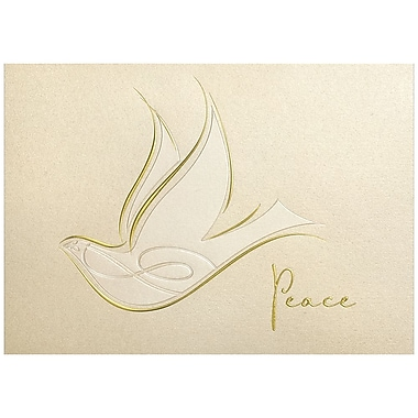 JAM Paper® Blank Christmas Holiday Cards Set, Peace Dove, 25/Pack (526M0259WB)