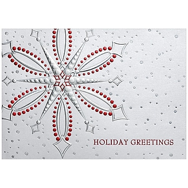 JAM Paper® Blank Christmas Holiday Cards Set, Snowflake, 25/Pack (526M0339B)