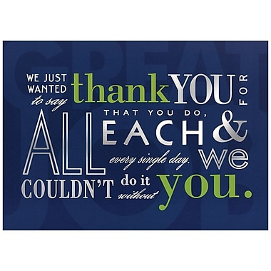 JAM Paper® Blank Thank You Cards Set, Inspirational, 25/Pack (526M0444WB)