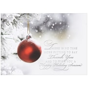 JAM Paper® Blank Christmas Holiday Cards Set, Ornament, 25/pack (526M0496B  Blank Xmas Cards