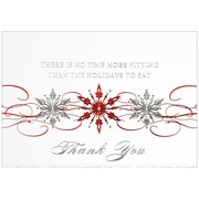 JAM Paper® Blank Christmas Holiday Cards Set, Snowflakes, 25/pack (526M0499B)