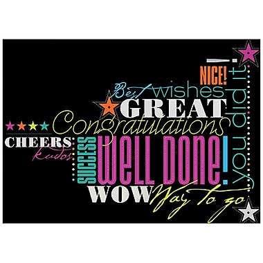 JAM Paper® Blank Congratulations Cards Set, Congrats in Neon, 25/Pack (526M0608WB)