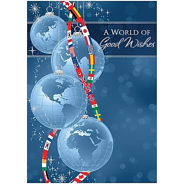 JAM Paper® Christmas Holiday Cards Set, Worldly Wishes, 25/Pack (526M0995WB)