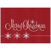 JAM Paper Blank Christmas Holiday Cards Set, Merry Christmas, 25/Pack (526M8816B