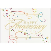 JAM Paper® Blank Anniversary Cards Set, Anniversary Squares, 25/pack (526XA4241WB)