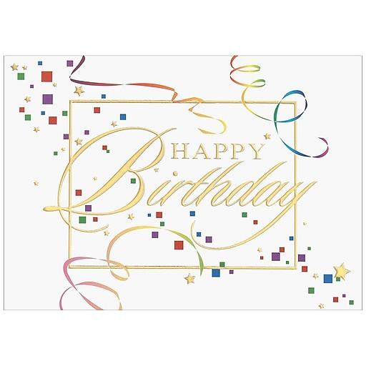 Jam Paper Blank Birthday Cards Set Happy Birthday Squares 25pack