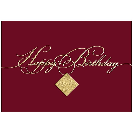 Jam paper blank birthday cards set burgundy birthday 25pack httpsstaples 3ps7is bookmarktalkfo Choice Image