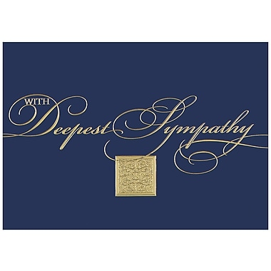 JAM Paper® Blank Sympathy Card Set, With Deepest Sympathy, 25/Pack (526XA5493WB)