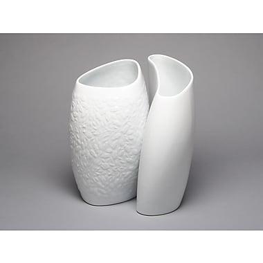 MarlaDawn Acorn and Leaf 2 Piece Relief Hugging Vase Set