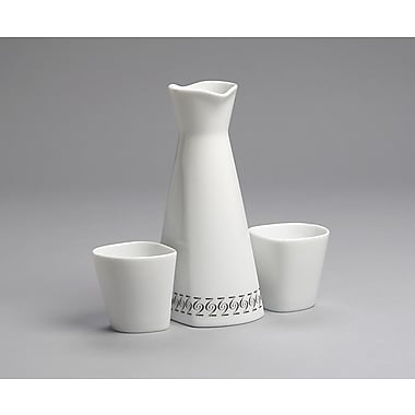 MarlaDawn Two Pattern 3 Piece Sake Set