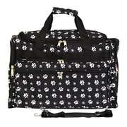 World Traveler Paws 19'' Shoulder Duffel; Black / White