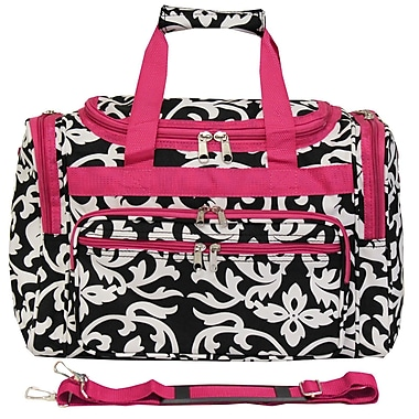 World Traveler Damask 16'' Shoulder Duffel; Pink