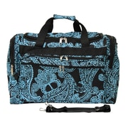 World Traveler Paisley 19'' Shoulder Duffel; Black / Blue