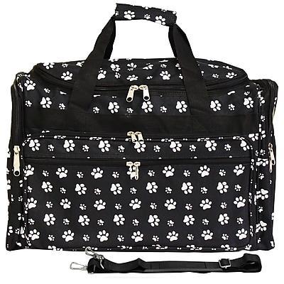 World Traveler Paws 22'' Travel Duffel; Black / White