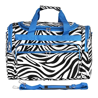 World Traveler Zebra 19'' Shoulder Duffel; Blue