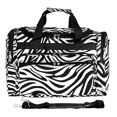 World Traveler Zebra 19'' Shoulder Duffel; Black