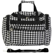 World Traveler Houndstooth 16'' Shoulder Duffel; Black