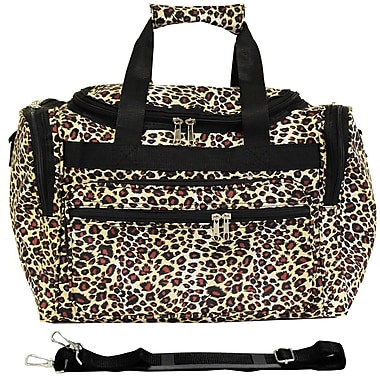 World Traveler Leopard 16'' Shoulder Duffel; Black