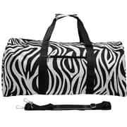 World Traveler Zebra 22'' Lightweight Duffel; Black