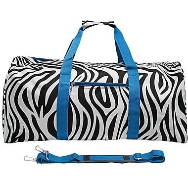 World Traveler Zebra 22'' Lightweight Duffel; Blue
