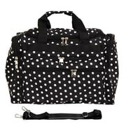 World Traveler Polka Dot 16'' Shoulder Duffel; Black / White