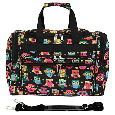 World Traveler Owl 16'' Shoulder Duffel; Black