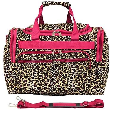 World Traveler Leopard 16'' Shoulder Duffel; Pink