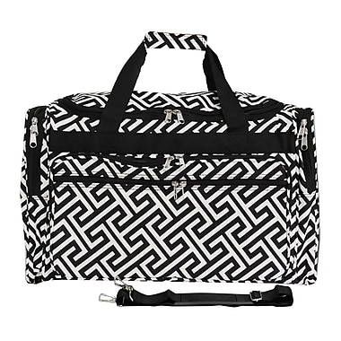 World Traveler Greek Key 19'' Shoulder Duffel