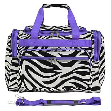 World Traveler Zebra 16'' Shoulder Duffel; Dark Purple